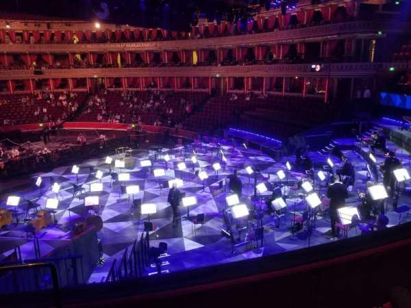 Royal Albert Hall, secção: West Choir, fila: 1, lugar: 114
