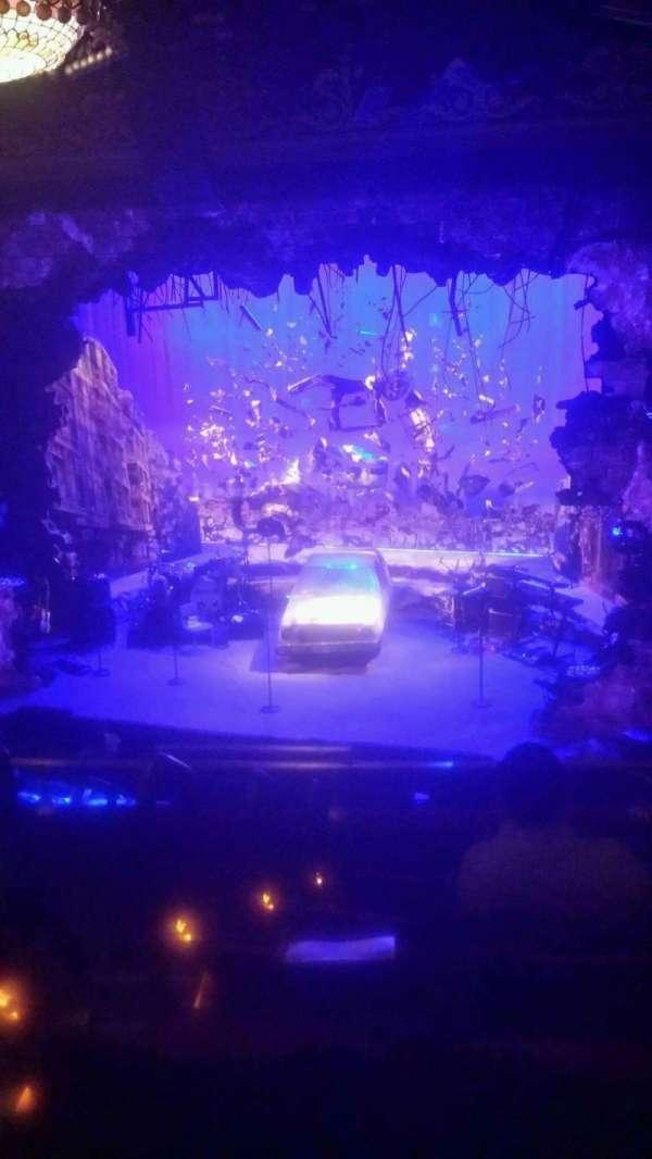 Belasco Theatre, secção: Mezzanine R, fila: F, lugar: 4