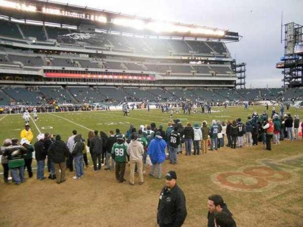 Lincoln Financial Field, secção: 117, fila: 2