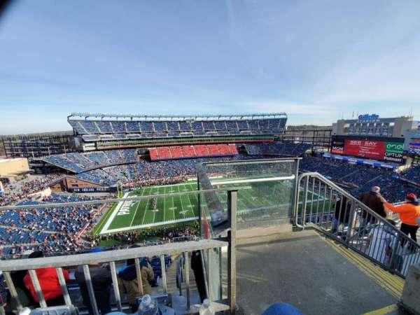Gillette Stadium, secção: 333, fila: 8, lugar: 1