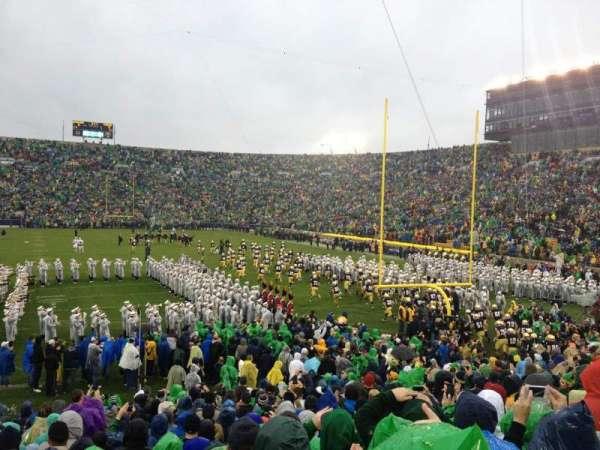 Notre Dame Stadium, secção: 2, fila: 25, lugar: 10