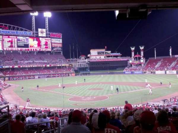 Great American Ball Park, secção: 124, fila: O, lugar: 17