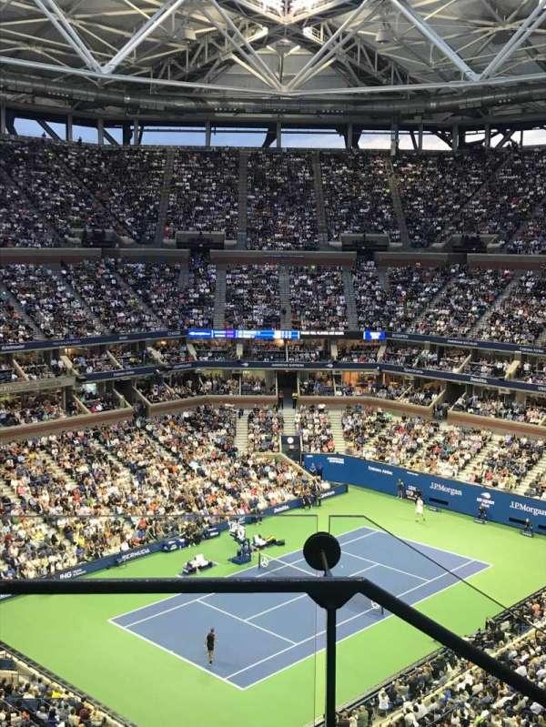 Arthur Ashe Stadium, secção: 306, fila: C, lugar: 18