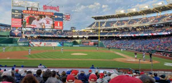 Nationals Park, secção: 117, fila: S, lugar: 3