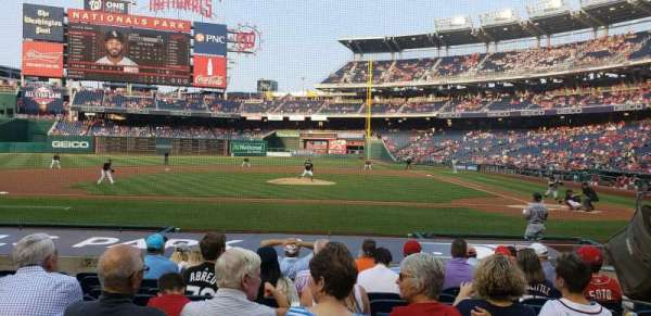 Nationals Park, secção: 117, fila: M, lugar: 6
