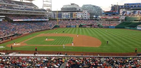 Nationals Park, secção: 219, fila: B, lugar: 2