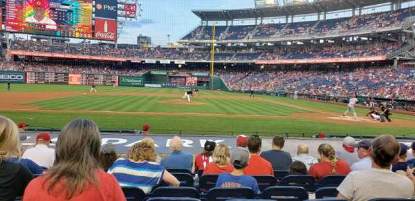 Nationals Park, secção: 117, fila: k, lugar: 11