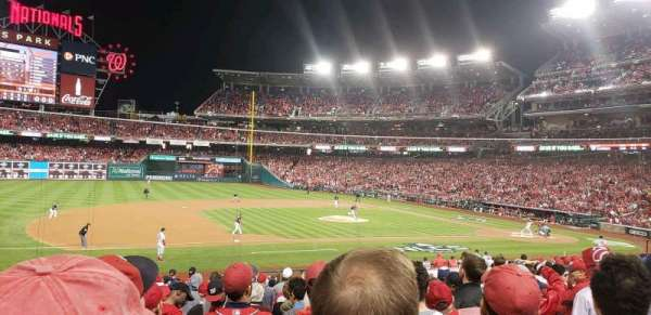 Nationals Park, secção: 115, fila: cc, lugar: 17