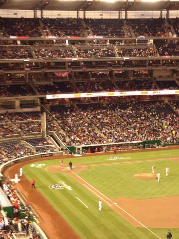 Nationals Park, secção: 228, fila: M