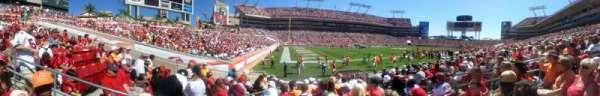 Raymond James Stadium, secção: 106, fila: H, lugar: 15