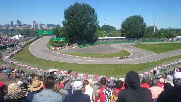Circuit Gilles Villeneuve, secção: Silver 12, fila: O, lugar: 14