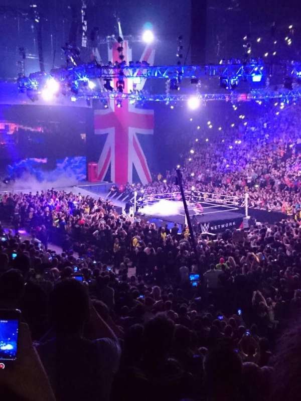 Manchester Arena, secção: 106, fila: J, lugar: 15