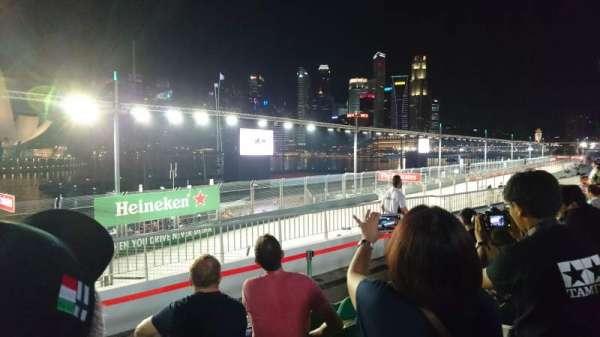 Singapore Street Circuit, secção: Bay Grandstand - Dark Green, fila: 13, lugar: 13