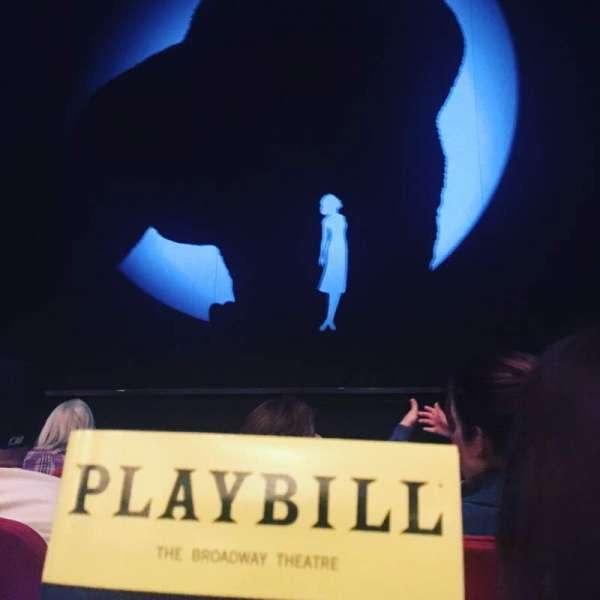 Broadway Theatre - 53rd Street, secção: Orchestra C, fila: D, lugar: 104