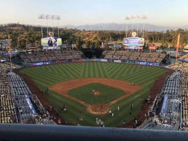 Dodger Stadium, secção: 1TD, fila: A, lugar: 17
