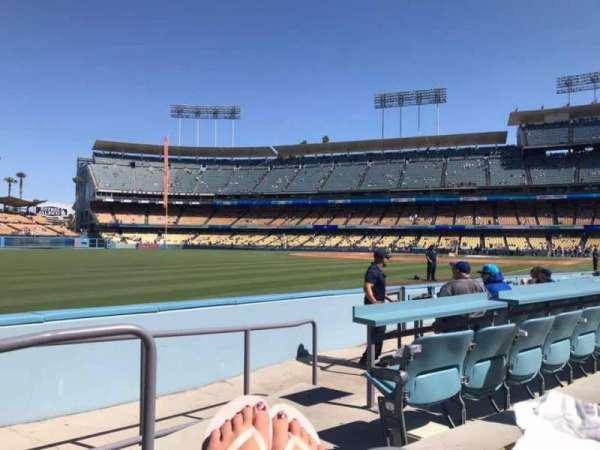 Dodger Stadium, secção: 47FD, fila: A, lugar: 1