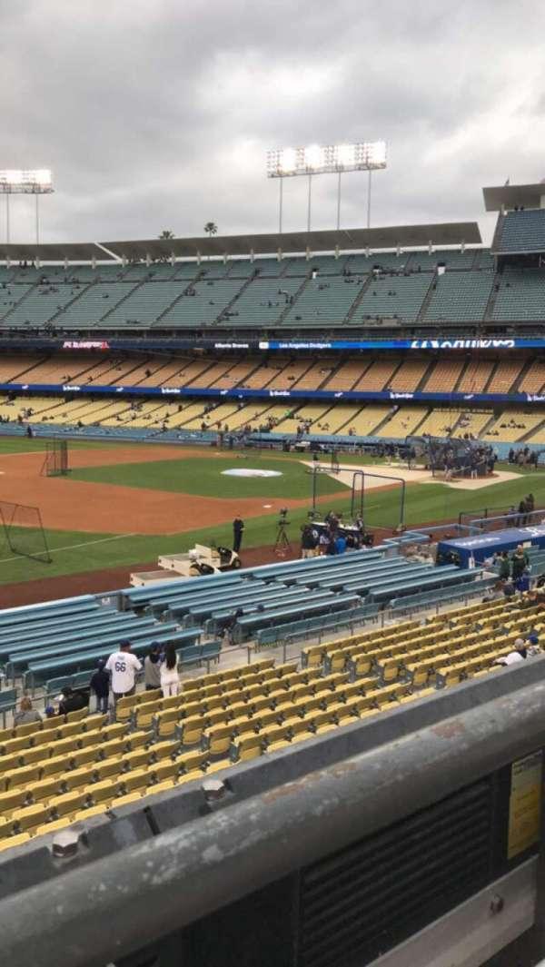 Dodger Stadium, secção: 149LG, fila: A, lugar: 1