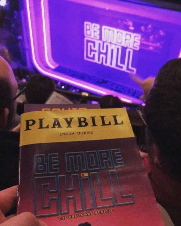 Lyceum Theatre (Broadway), secção: Balcony, fila: C, lugar: 10