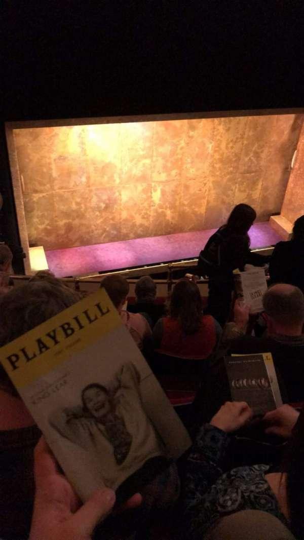 Cort Theatre, secção: Balcony L, fila: E, lugar: 5