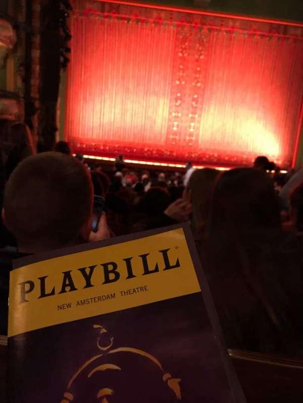 New Amsterdam Theatre, secção: Orchestra C, fila: U, lugar: 115