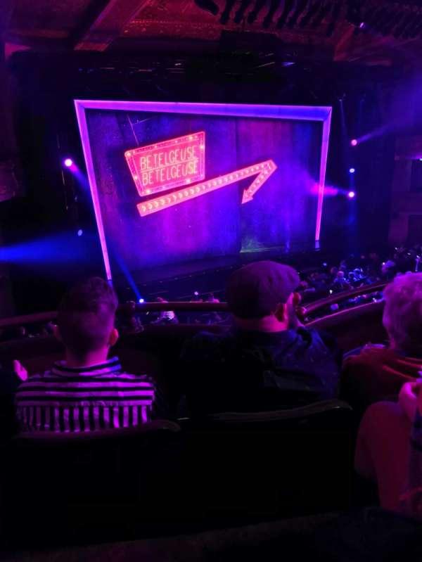 Winter Garden Theatre, secção: Mezz, fila: C, lugar: 125