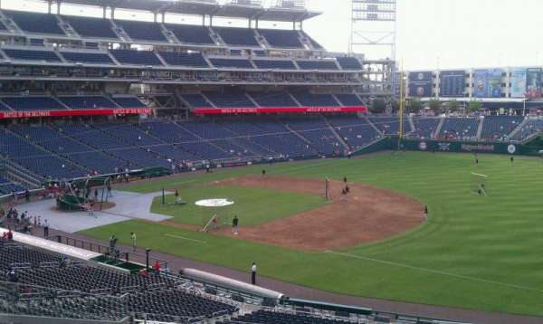 Nationals Park, secção: 223, fila: L, lugar: 1