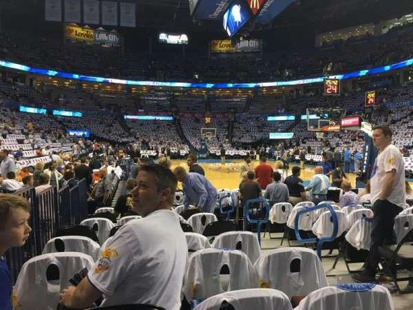 Chesapeake Energy Arena, secção: 112, fila: JJ, lugar: 3