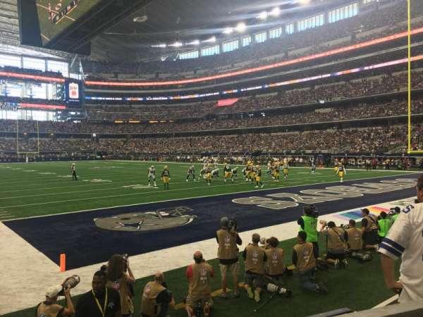 AT&T Stadium, secção: 101, fila: 1, lugar: 3