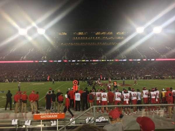 Stanford Stadium, secção: 134, fila: D, lugar: 3
