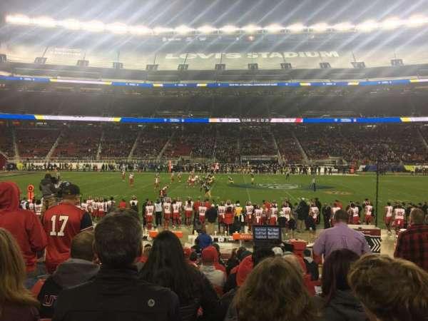 Levi's Stadium, secção: C139, fila: 12, lugar: 3