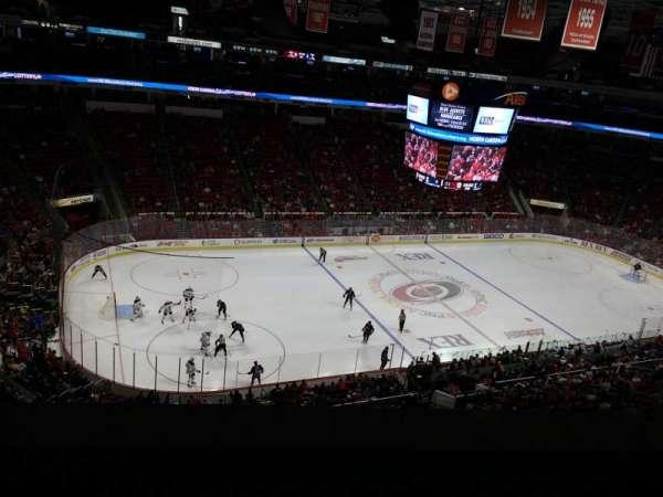PNC Arena, secção: 306, fila: A, lugar: 22