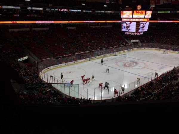 PNC Arena, secção: 209, fila: D, lugar: 1