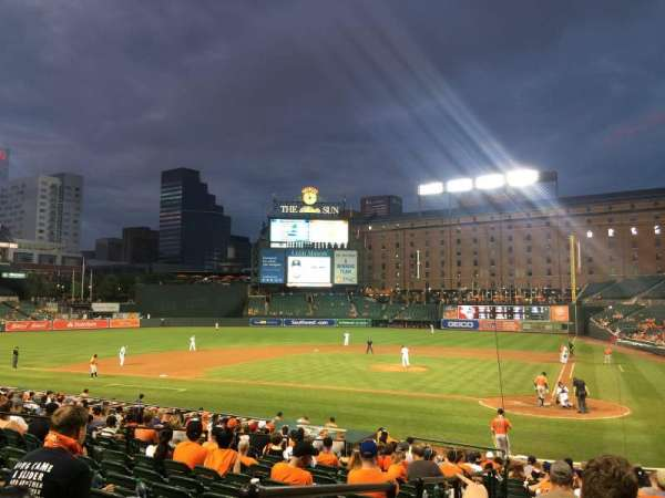 Oriole Park at Camden Yards, secção: 42, fila: 20
