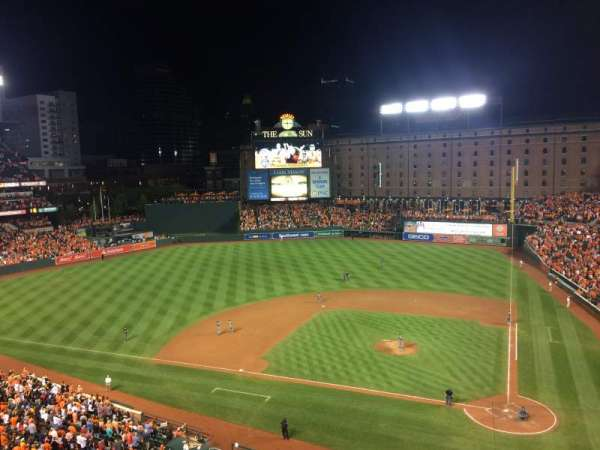 Oriole Park at Camden Yards, secção: 348, fila: 3