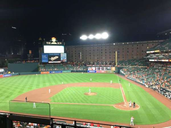 Oriole Park at Camden Yards, secção: 244, fila: 4