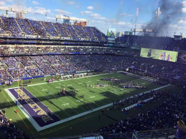 M&T Bank Stadium, secção: 533, fila: 10