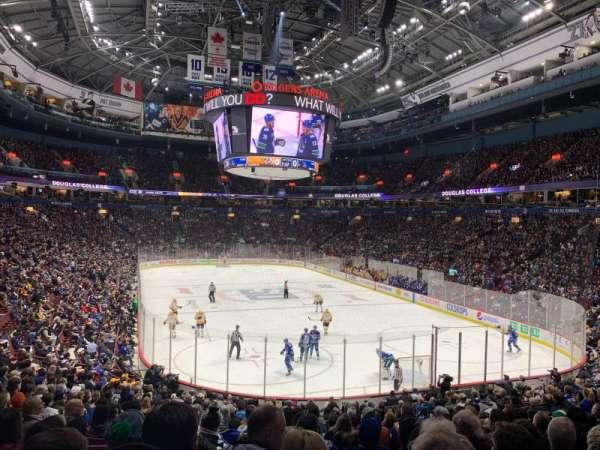 Rogers Arena, secção: 102, fila: 21