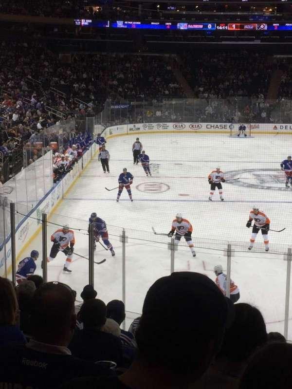 Madison Square Garden, secção: 111, fila: 15, lugar: 19