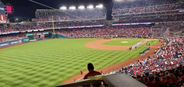 Nationals Park, secção: 201, fila: P, lugar: 1
