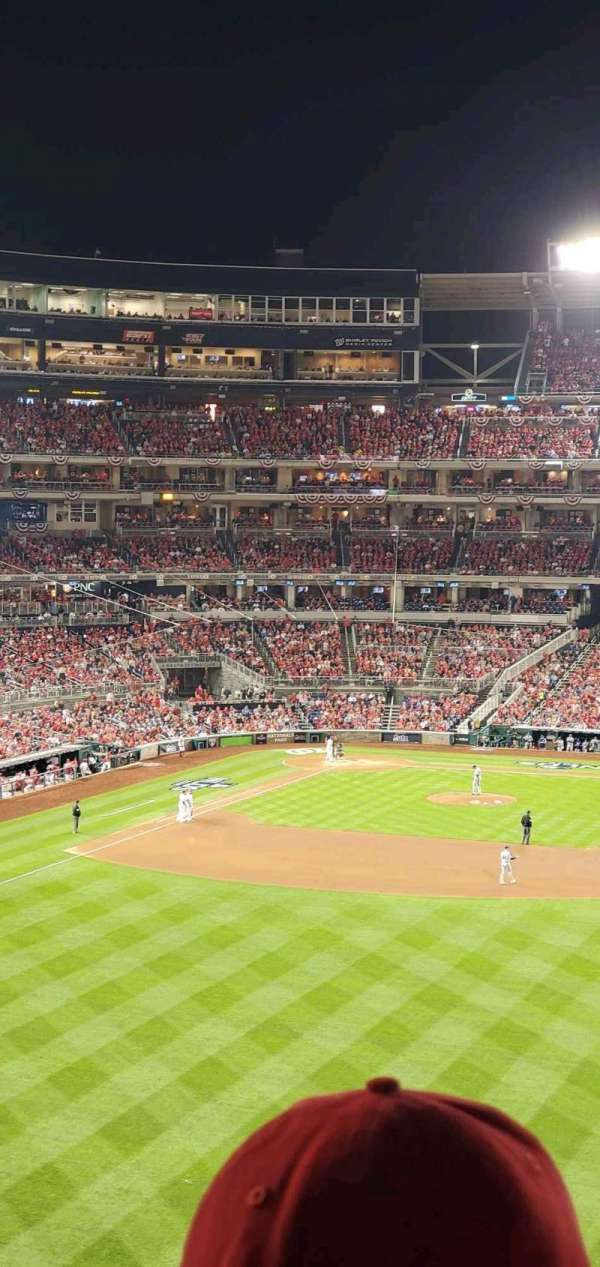 Nationals Park, secção: 240, fila: P, lugar: 3