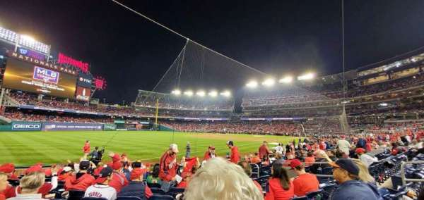 Nationals Park, secção: 110, fila: M, lugar: 9
