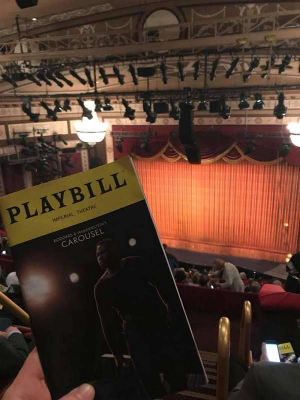Imperial Theatre, secção: Rear Mezzanine 2, fila: F, lugar: 1