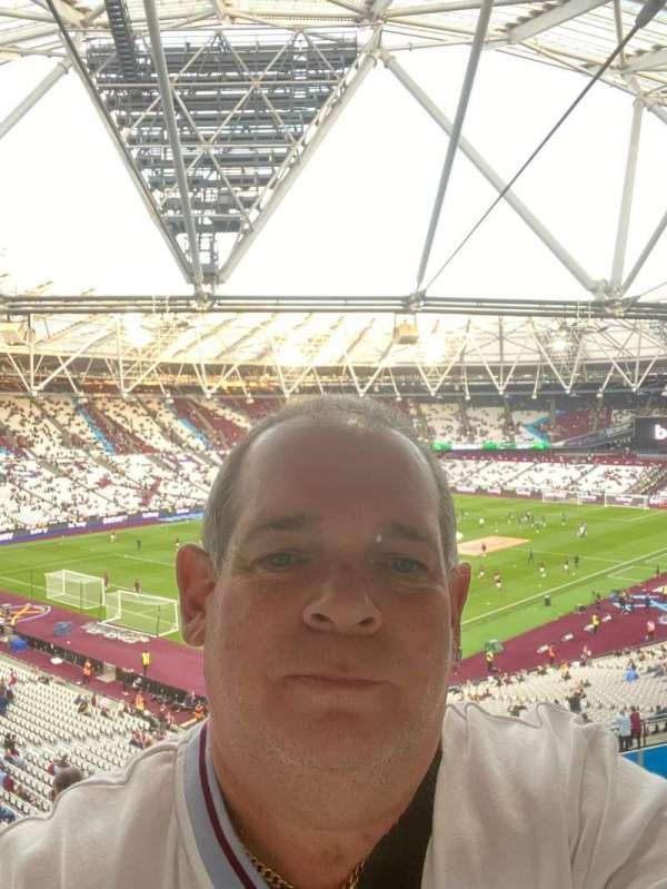 London Stadium, secção: 201, fila: 50, lugar: 663