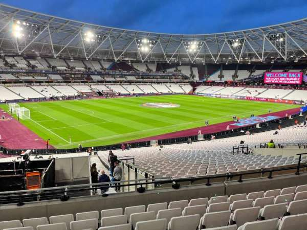 London Stadium, secção: 230, fila: 37, lugar: 601