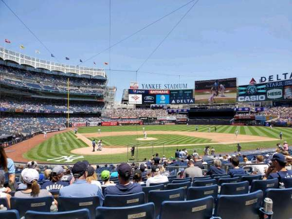 Yankee Stadium, secção: 118, fila: 12, lugar: 6