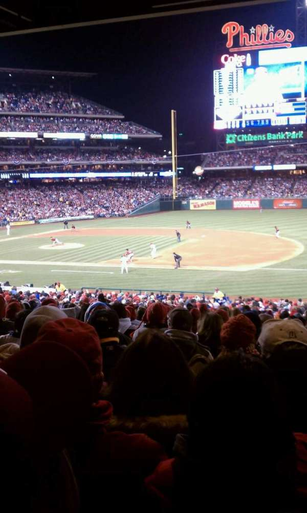 Citizens Bank Park, secção: 114, fila: 39, lugar: 10