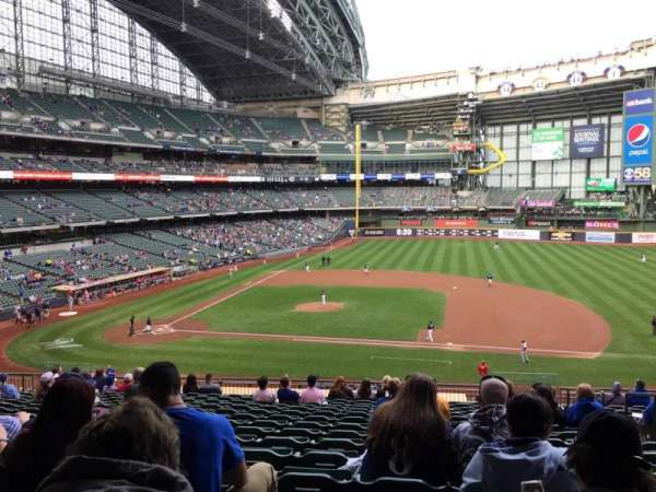 American Family Field, secção: 213, fila: 17, lugar: 18