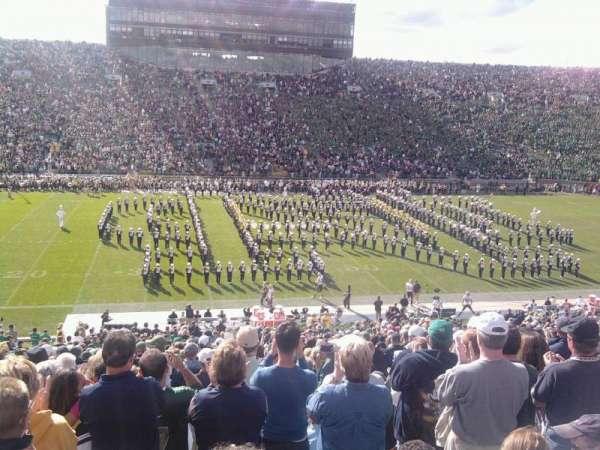 Notre Dame Stadium, secção: 11, fila: 34, lugar: 8