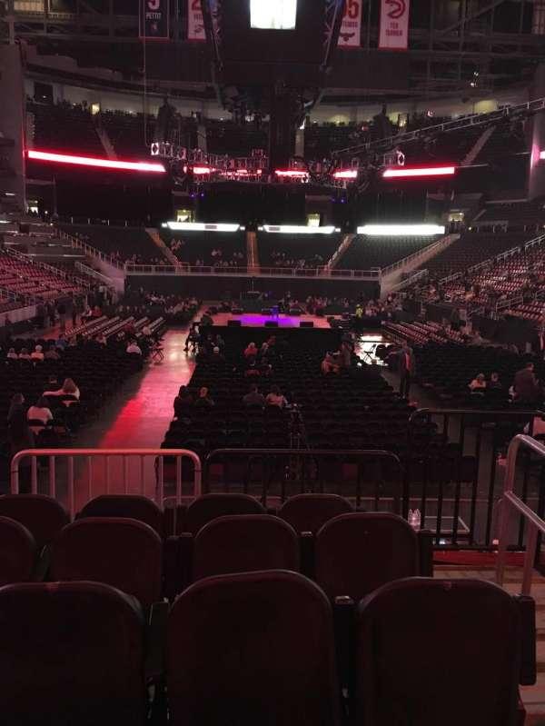 State Farm Arena, secção: 103, fila: E, lugar: 2