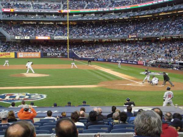 Yankee Stadium, secção: 123, fila: 16, lugar: 5